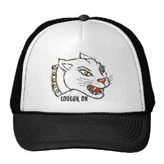 COUGAR ON - PRINT by jill Trucker Hats