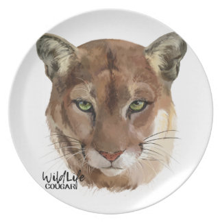 """Cougar"" Party Plate"