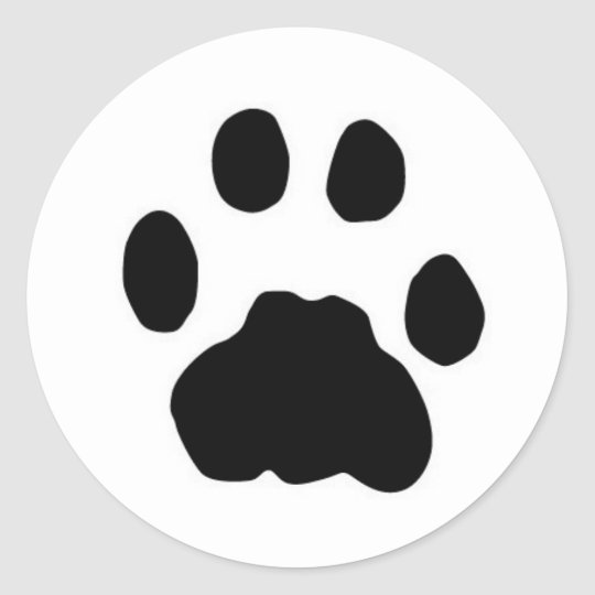 COUGAR PAW PRINT CLASSIC ROUND STICKER