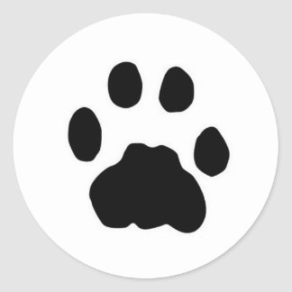 COUGAR PAW PRINT ROUND STICKERS