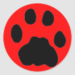COUGAR PAW PRINT STICKERS