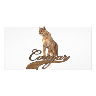 Cougar Personalized Photo Card