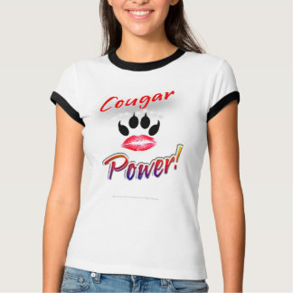 """""""Cougar Power!"""" Lipstick Pawprint Shirt"""