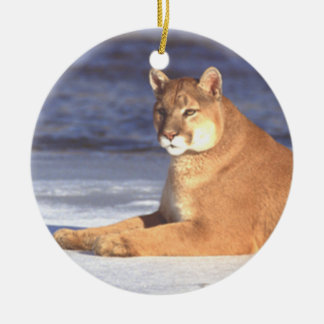 Cougar Resting Ornament