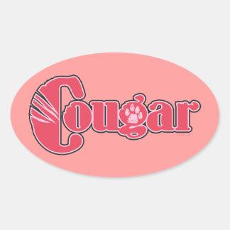 Cougar Oval Sticker
