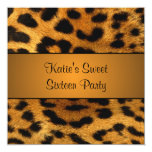 Cougar Tiger Sweet 16 Birthday Party Invitation 13 Cm X 13 Cm Square Invitation Card