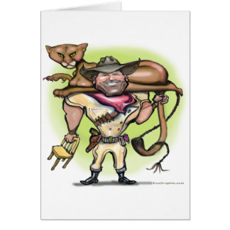 Cougar Trainer Greeting Card