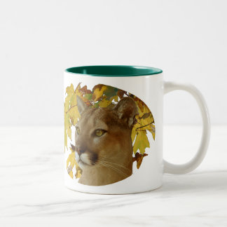 COUGAR UNDER MAPLE Two-Tone COFFEE MUG