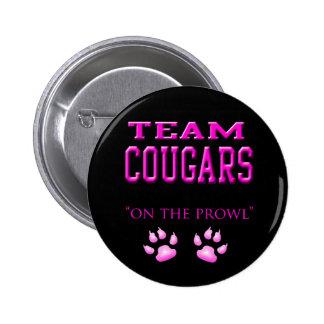 cougars 6 cm round badge
