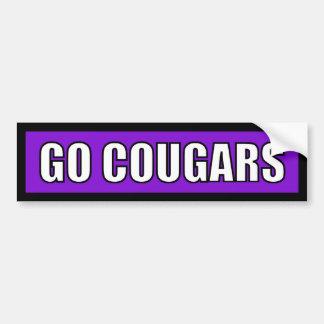 Cougars - Black Purple White Bumper Sticker
