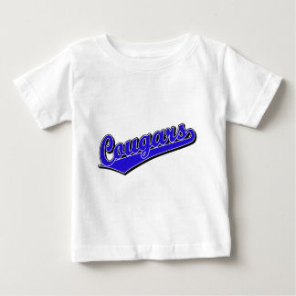 Cougars in Blue Baby T-Shirt