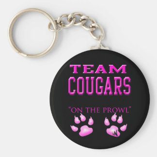 Cougars Basic Round Button Key Ring