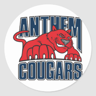 Cougars Round Stickers