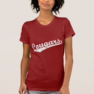 Cougars script logo in White T-Shirt