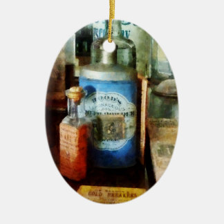 Cough Remedies And Tooth Powder Ceramic Oval Decoration