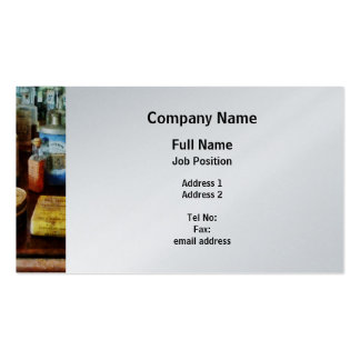 Cough Remedies and Tooth Powder - Platinum Business Cards
