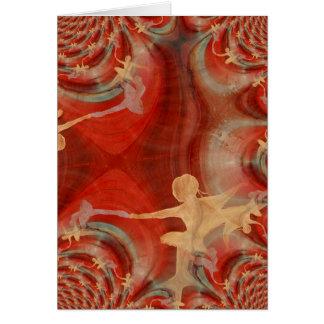 Couleur D'une Danse De Ballet 3 Greeting Card