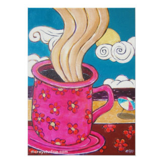 """Couleurs Cafe"" Poster"