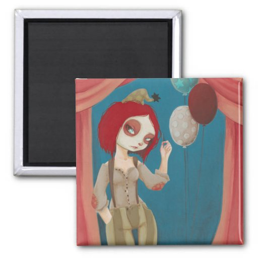 Coulrophobia - Bad clown magnet Refrigerator Magnet