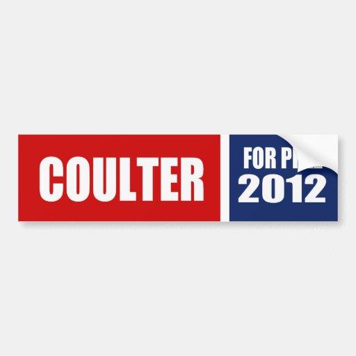COULTER 2012 BUMPER STICKER
