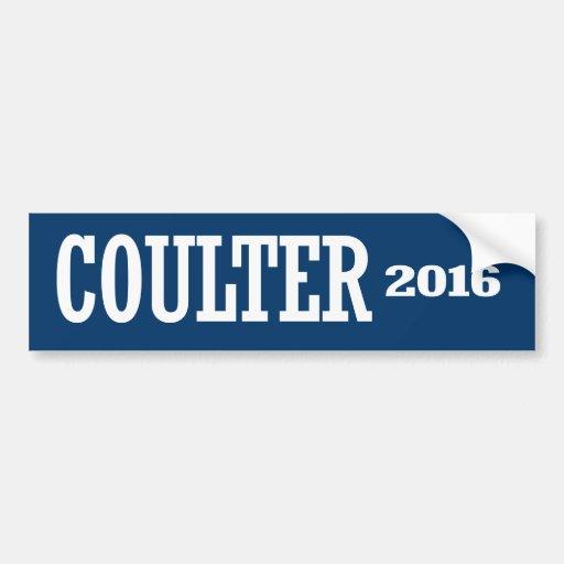 COULTER 2016 BUMPER STICKER