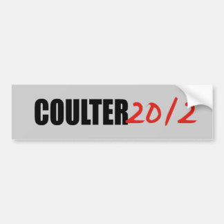 COULTER BUMPER STICKER