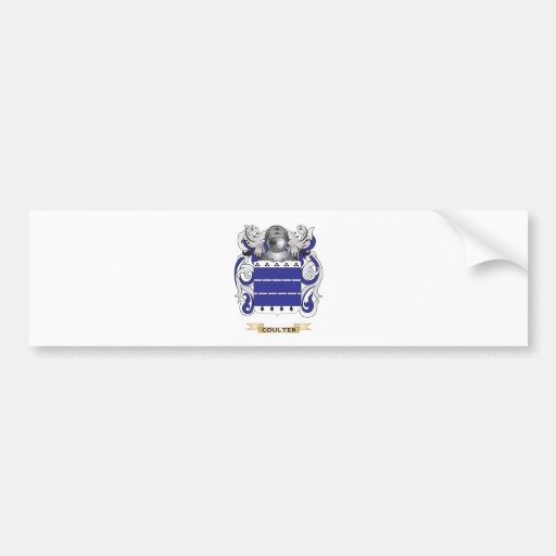 Coulter Coat of Arms Bumper Stickers