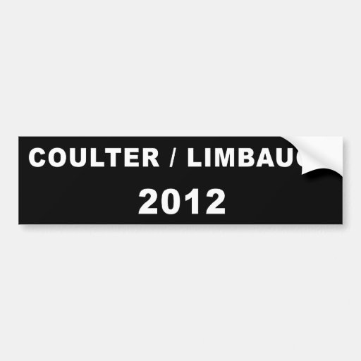 COULTER/LIMBAUGH 2012 BUMPER STICKERS