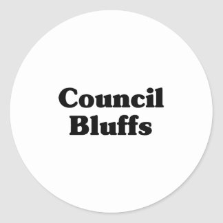 Council Bluffs Classic t shirts Round Stickers