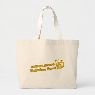 Council Bluffs Drinking Team tee shirts Canvas Bag