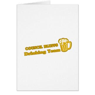 Council Bluffs Drinking Team tee shirts Card