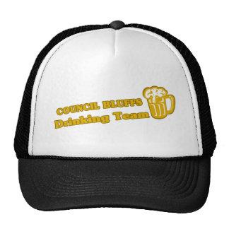 Council Bluffs Drinking Team tee shirts Mesh Hats