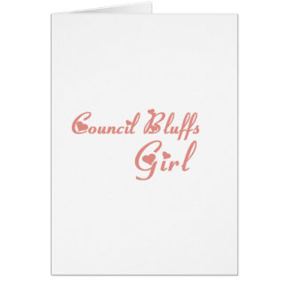 Council Bluffs Girl tee shirts Greeting Cards