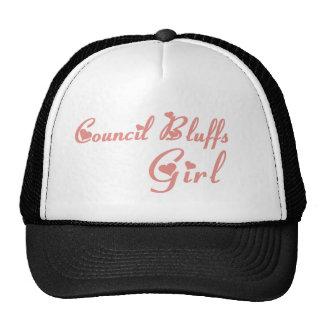 Council Bluffs Girl tee shirts Mesh Hats