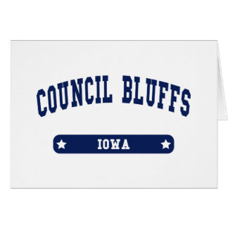 Council Bluffs Iowa College Style tee shirts Cards