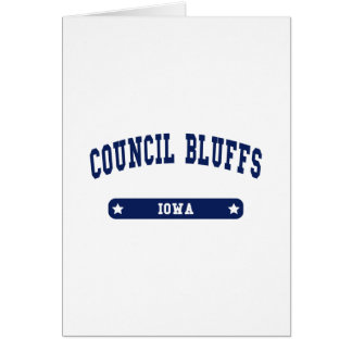 Council Bluffs Iowa College Style tee shirts Greeting Card