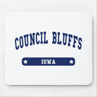 Council Bluffs Iowa College Style tee shirts Mouse Pad