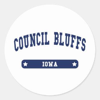 Council Bluffs Iowa College Style tee shirts Classic Round Sticker