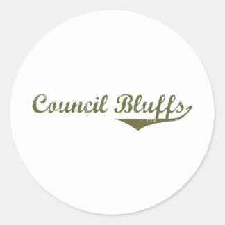 Council Bluffs Revolution t shirts Classic Round Sticker