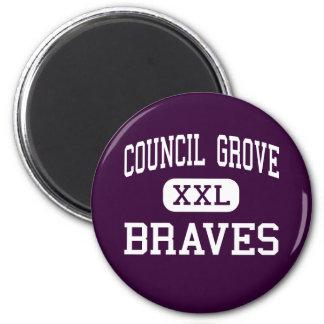 Council Grove - Braves - High - Council Grove Fridge Magnet