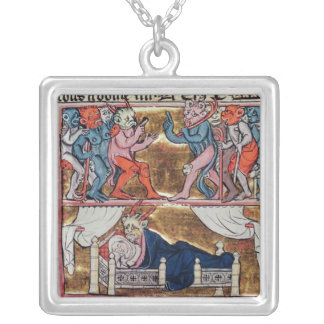 Council of Demons, from 'l'Histoire de Merlin' Silver Plated Necklace