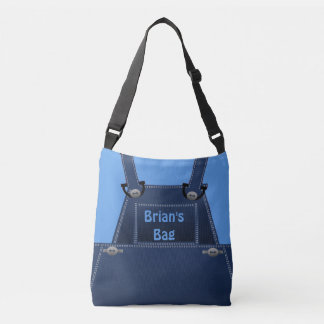 Counrty Folk Blue Overalls Custom CBB Crossbody Bag