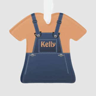 Counrty Folk Cute Overalls Custom O