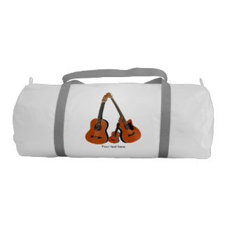Counrty Folk Music Acoustic Instruments Gym Duffel Bag