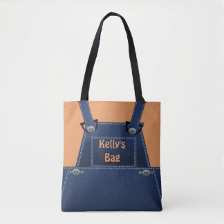 Counrty Folk Overalls Custom Tote