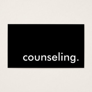 counseling. business card