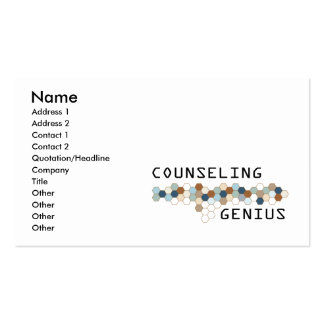 Counseling Genius Pack Of Standard Business Cards