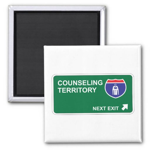 Counseling Next Exit Square Magnet