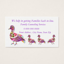 Family Counseling Business Cards Business Card Printing Zazzle UK