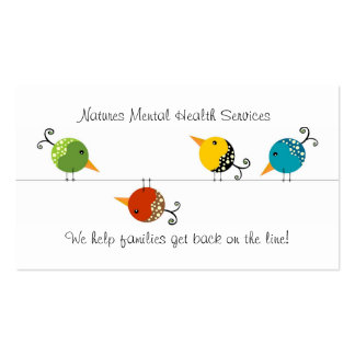 Counseling Services Pack Of Standard Business Cards